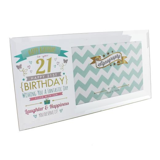 Vintage Signography Range Birthday Photo Frame 18th 21st 30th 40th 50th or 60th